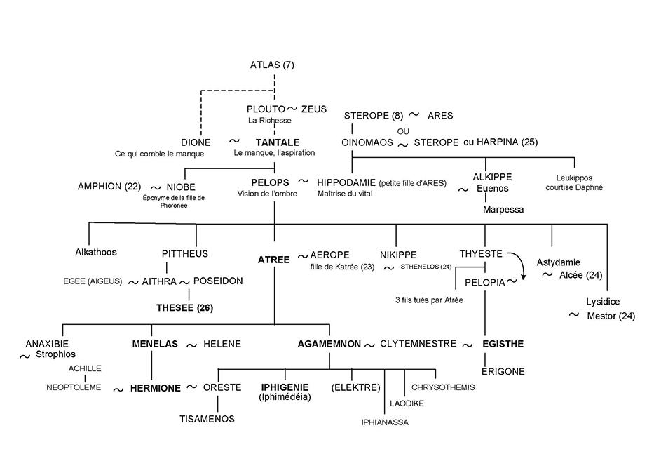 Tantale et Agamemnon - Arbre généalogique 15 - Mythologie grecque