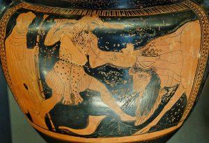 Héraclès combattant le fleuve Achéloos pour Déjanire