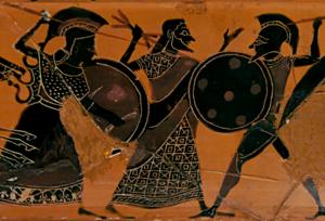 Zeus séparant Héraclès et Cyknos - BM