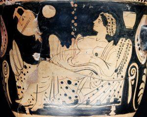 Zeus se change en pluie d'or pour féconder Danaé, la mère de Persée