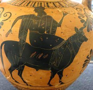 Europe sur le dos de Zeus transformé en taureau