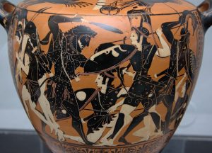 Heracles fighting the Amazons