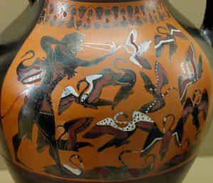 Heracles chassant les Oiseaux du lac Stymphale
