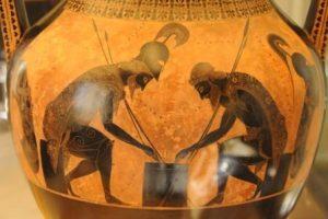 Achille et Ajax jouant