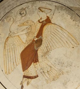 Aphrodite on a swan - British Museum