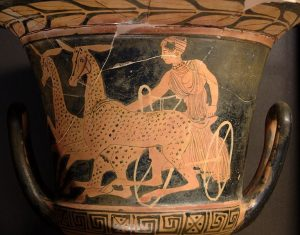 Artemis in a chariot drawn by hinds - Louvre Museum