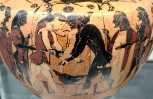 Atalanta fighting with Peleus - Staatliche Antikensammlungen