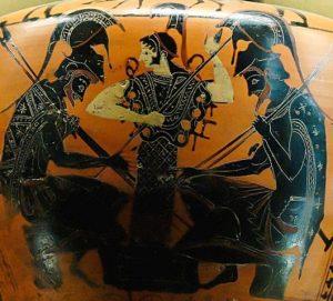 Athéna, Achilles et Ajax - Musée du Louvre