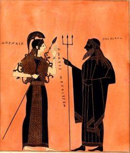 Athena and Poseidon -Cabinet des Médailles