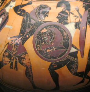 Héraclès combattant Cyknos - Musée du Louvre