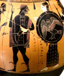 Hermès et Athéna. accueillant Héraclès sur l'Olympe - Musée du Louvre