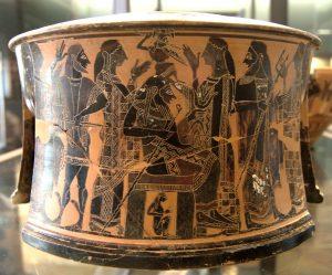 Les dieux assistant à la naissance d'Athéna - Musée du Louvre