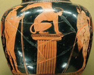 Oedipe et la Sphinge, et Hermès à gauche - Musée du Louvre