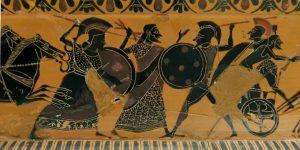 Zeus séparant Athéna et Arès - British Museum